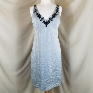 Nicole by Nicole Miller Silver Cocktail Dress